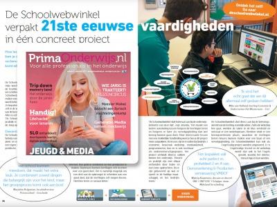 Artikel De Schoolwebwinkel in PrimaOnderwijs - november 2017
