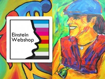 Einsteinwebshop maakt tentoonstelling en zet veiling in op 8 maart