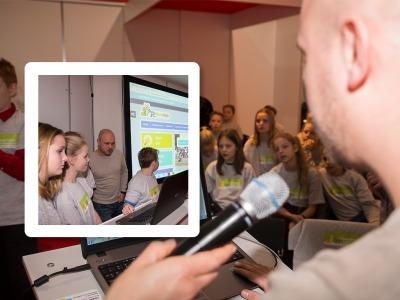 Groep 8 en FonQ.nl zetten webshop live op NOT-beurs