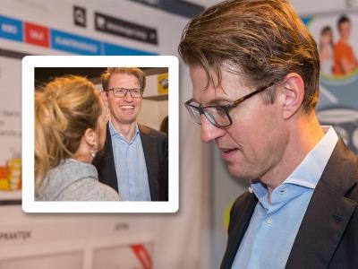 Bezoek staatssecretaris Sander Dekker tijdens NOT beurs